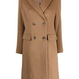 Lauren Ralph Lauren peak-lapels double-breasted coat - Brown