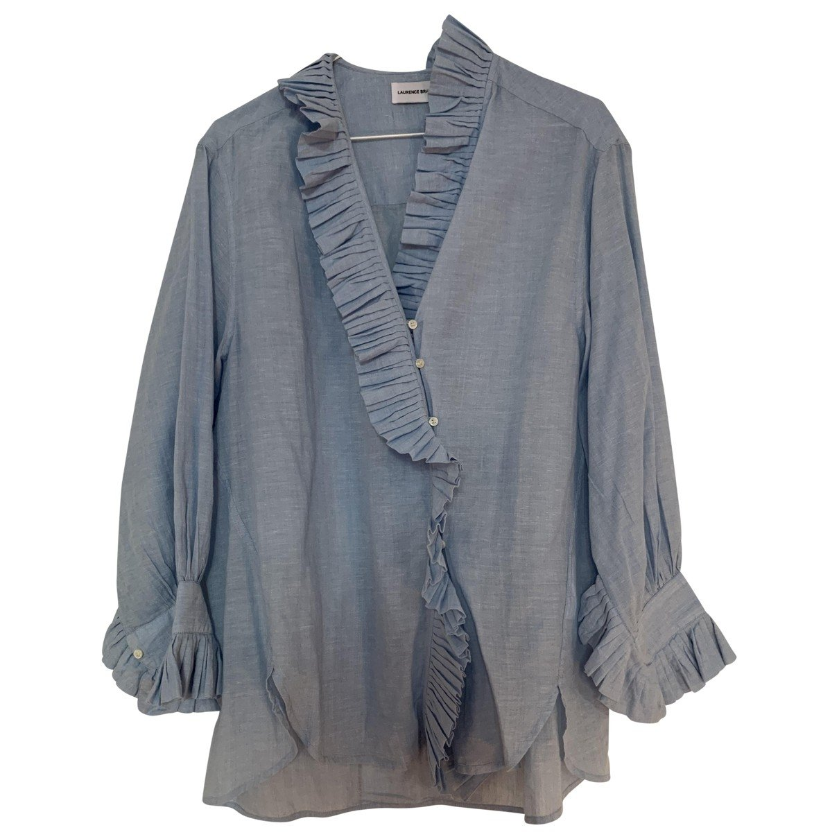 Laurence Bras N Blue Cotton Top for Women