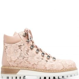 Le Silla lace-panel ankle boots - Pink