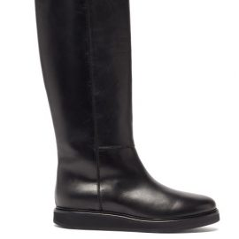 Legres - Knee-high Leather Boots - Womens - Black
