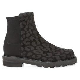 Lift Leopard-Print Leather Sock Boots