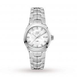 Link Quartz Date Mother Of Pearl 32mm Ladies Watch