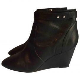 Loeffler Randall Leather wellington boots