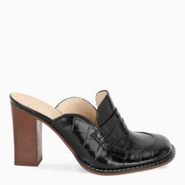 Loewe Black Loafer 90 pumps