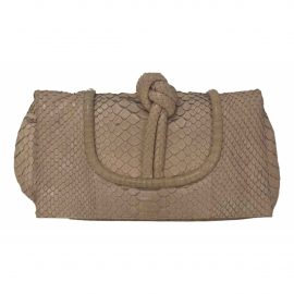 Loewe N Pink Python Clutch Bag for Women