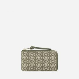 Loewe Wallet In Jacquard Canvas With All-over Anagram Motif