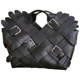 Loewe Woven basket bag leather tote