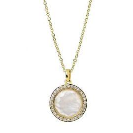 Lollipop® 18K Yellow Gold, Mother-Of-Pearl Doublet & Diamond Mini Pendant Necklace