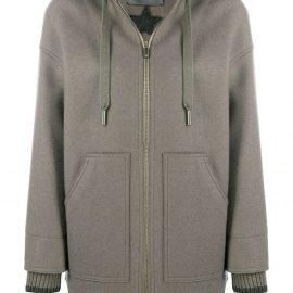 Lorena Antoniazzi hooded sports coat - Grey