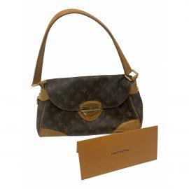 Louis Vuitton Beverly Brown Cloth Clutch Bag for Women