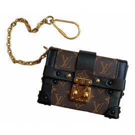 Louis Vuitton Essential Trunk Brown Cloth Clutch Bag for Women