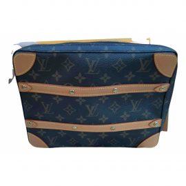 Louis Vuitton Soft trunk mini Brown Cloth Bag for Men