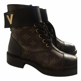 Louis Vuitton Wonderland Brown Cloth Ankle boots for Women