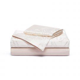 Luxury Medallion queen size duvet set - Powder Pink