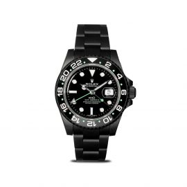 MAD Paris customised pre-owned Rolex GMT Master II 40mm - Black