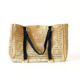 MARAINA LONDON - Agnes Large Raffia Beach Bag