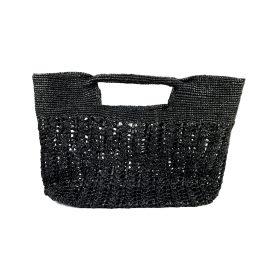 MARAINA LONDON - Ines Odette Raffia Beach Bag Black