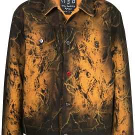 MJB Marc Jacques Burton Pax tie-dye denim jacket - Black