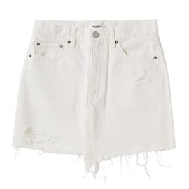 MV Ripliy Frayed Hem Denim Mini Skirt