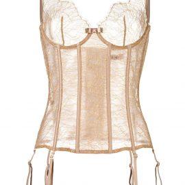 Maison Close 'Jardin Imperial' corset - Neutrals