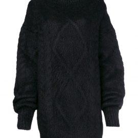 Maison Margiela cable knit sweater - Black