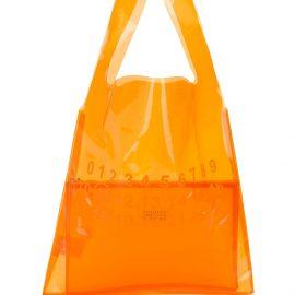 Maison Margiela transparent logo tote - Orange