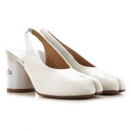 Maison Martin Margiela Pumps & High Heels for Women, White, Leather, 2019, 5.5