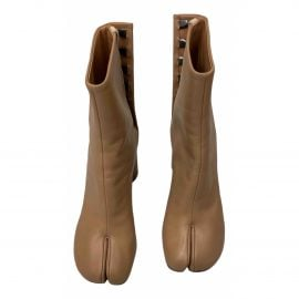 Maison Martin Margiela Tabi Camel Leather Ankle boots for Women