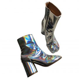 Maison Martin Margiela Tabi Metallic Patent leather Ankle boots for Women