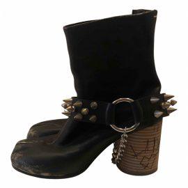 Maison Martin Margiela Tabi leather biker boots