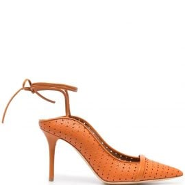 Malone Souliers Ami 85mm perforated pumps - Orange
