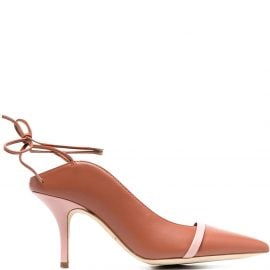Malone Souliers Amie lace-up mules - Brown