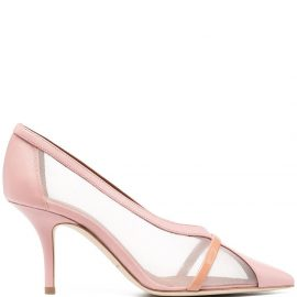 Malone Souliers Brook mesh-panelled pumps - Pink