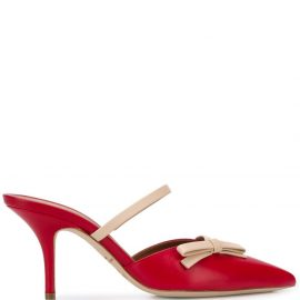 Malone Souliers Jenna 70mm bow-appliqué mules - Red