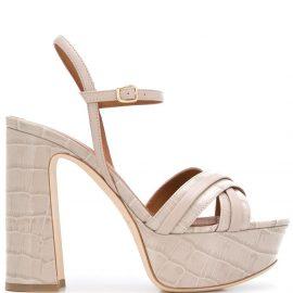 Malone Souliers Mila 125mm platform sandals - Grey