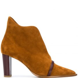 Malone Souliers pointed-toe ankle boots - Brown