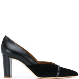 Malone Souliers pointed-toe panelled pumps - Black