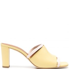 Malone Souliers square open toe mules - Yellow