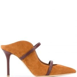Malone Souliers strap suede mules - Brown
