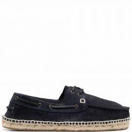 Manebi Hamptons suede boat shoes - Blue