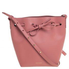 Mansur Gavriel Pink Leather Drawstring Bucket Bag