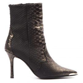 Marc Ellis Condanet Black Scaled Leather Boots