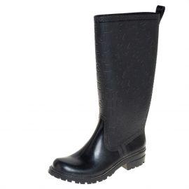 Marc by Marc Jacobs Black Rubber Alphabet Rain Boots Size 38