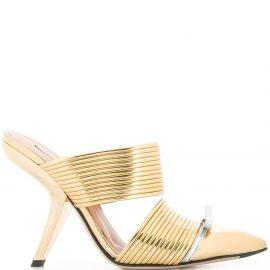 Marco De Vincenzo slip-on mule - GOLD