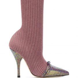 Marco De Vincenzo sock-style stiletto boots - PINK