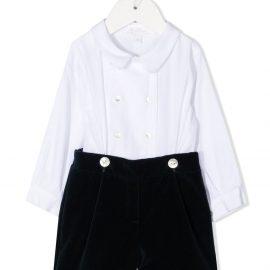 Mariella Ferrari double-breasted shirt playsuit - White