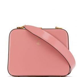 Mark Cross logo cross body bag - Pink