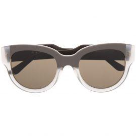Marni Eyewear cat eye-frame sunglasses - Brown