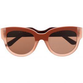 Marni Eyewear two-tone cat eye sunglasses - Red