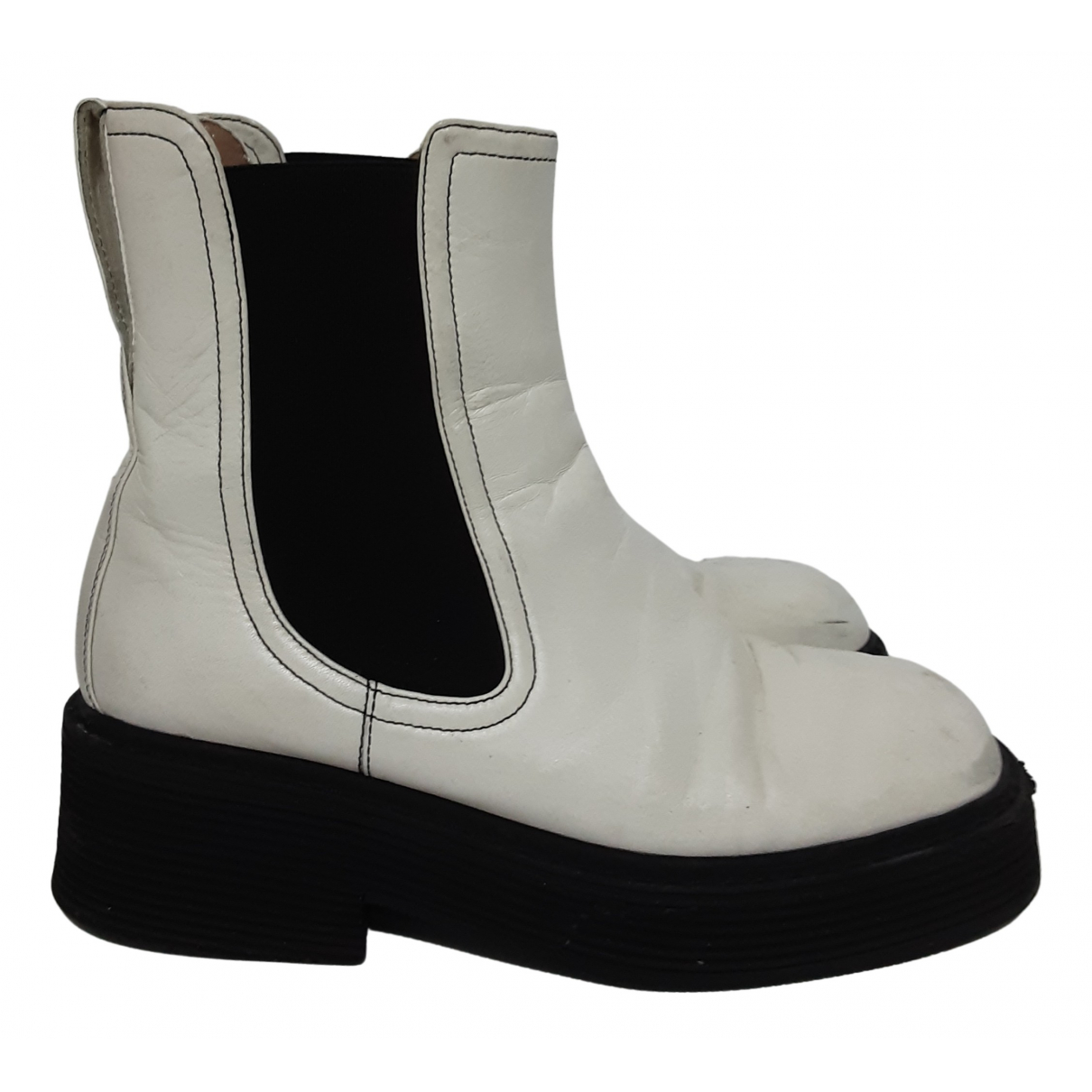 Marni N White Leather Ankle boots for Women